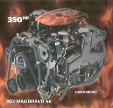 MERCRUISER 383 MAG BRAVO 4V 350 HP MARINE ENGINE