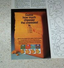 1988 vintage ad - Kraft Foods Macaroni & Cheese - how much cheesier - PRINT AD