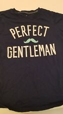 Carter's size 7 Boys Blue Perfect Gentleman Mustache T shirt