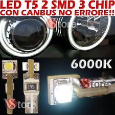 10 LED T5 SMD Bianco Para Faros ANGEL EYES CAN BUS NO ERROR 6000K para Depo FK
