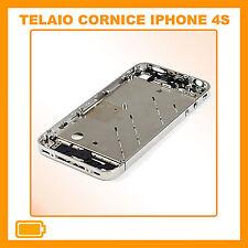 TELAIO CENTRALE COMPLETO IPHONE 4S CORNICE METALLO MIDDLE BOARD 4S FRAME