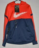 NWT Nike THERMA Youth Boys Sweatshirt Size XS Warm DRI-FIT Hooded Hoodie