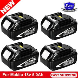 1/2/3/4x 18V For Makita BL1850 5.0Ah LXT Li-Ion Cordless Battery BL1860 BL1830