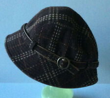 """""""Marie Claire"""" ~ Cloche Style Brown Tweed Wool Blend Hat With Band 57cms"""
