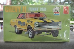 """AMT Chevy II """"Twister"""" Funny Car - 1/25 - #T-151 - Sealed Original Issue Kit!"""