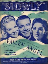 Slowly, Fallen Angel, Alice Faye,1945, Vintage Music,