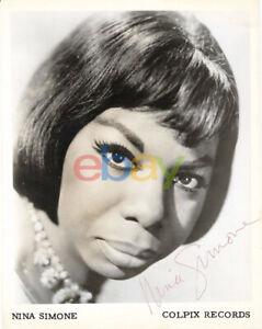 NINA SIMONE autographed SIGNED 8x10 Jazz Vintage Photo reprint