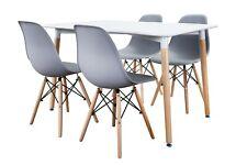 Conjunto de Mesa Wad 120 + 4 sillas Tower grises