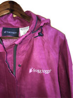 Frogg Toggs Womens Rain Jacket Hooded Long Sleeve Zip Up Pink Sz XL