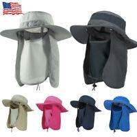 Brim Sun Block Hat Quick Drying Outdoor Fishing Cap Unisex Climbing Bucket Hat