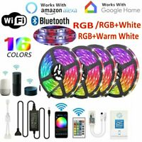 5/10/20M RGB RGBW 5050 3528 LED Strip Lights Kit Wifi/Bluetooth Music Sound Sync