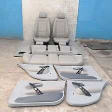 BMW 1 SERIES E87 Grey Leather Interior Seats with Airbag and Door Cards