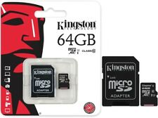 Kingston 64GB Micro SD+Adapter MicroSD Memory Handy Foto Video Speicherkarte