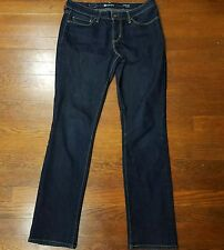 Levi's Womens Demi Curve Modern Rise Staight Midnight Blue Denim Jeans Size 29