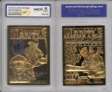 MICKEY MANTLE 1996 23KT Gold Card Sculpted * Commerce Comet * Graded GEM MINT 10