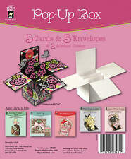POP-UP BOX DIE-CUT CARDS & ENVELOPES-Folded Greeting-Paper Craft-Blank Templates