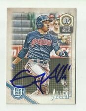 Cleveland Indians GREG ALLEN  Signed 2018 Topps Gypsy Queen Card #215