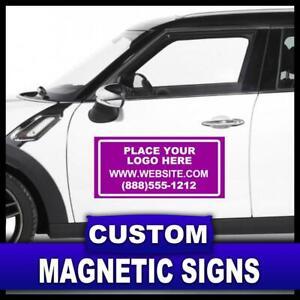 2 x MAGNETIC SIGNS MOTORWAY GRADE VEHICLE, VAN, CAR FULL COLOUR PRINTED MAGNETIC