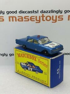 MATCHBOX LESNEY No.55 Ford Fairlane Police Car original vintage diecast