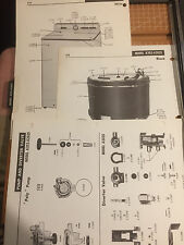 VINTAGE MAYTAG WASHER A202 & A202S w ORIGINAL PICTURES of ACCESSORIES, PARTS