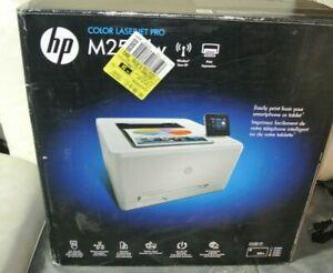 Open Box HP M252dw Color LaserJet Pro Wireless auto duplicate Laser Printer Test