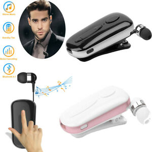 Clip Wireless Bluetooth Headset Earpiece For Samsung S10 S9 Note 9 8 5 LG Huawei