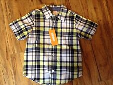Gymboree collared plaid short sleeve shirt- 3t- NEW