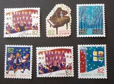 JAPAN USED 2016 WINTER GREETINGS 82 YEN 6 VALUE VF COMPLETE SET SC# 4067 a - f