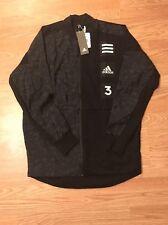 Adidas Mens Varsity Training Jacket Black Jacquard Camo $90 M Boost Yeezy
