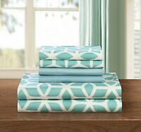 Chic Home Bailee 6 Piece Sheet Set with Pillowcases Geometric Pattern Green