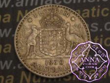 Australia 1939 George VI Florin X1, Average Circulated Condition