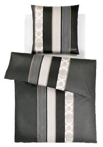 JOOP! Bettwäsche Ornament Stripes schwarz Streifen Ornamente 4022-09 Mako Satin