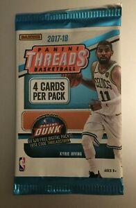 (1) 2017-18 PANINI THREADS NBA BASKETBALL Retail Pack (4 Cards) Tatum RC?