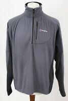 BERGHAUS Grey 1/4 Zip Fleece Jumper Size L