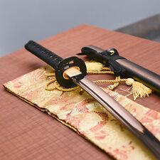 handmade full tang black carbon steel blade Katana japanese samurai sword sharp