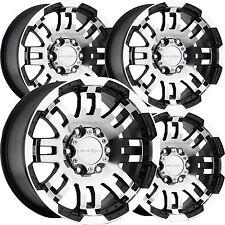"Set 4 15"" 5 Lug Vision 375 Warrior Black Machined 5x4.5 Wheels Ford Ranger Truck"