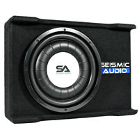 "Shallow Mount 12"" 600 Watt Car Truck Audio Subwoofer Enclosure for Tight Spaces"