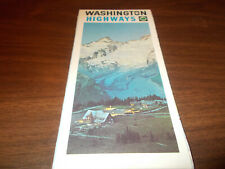 1970 Washington State-issued Vintage Road Map