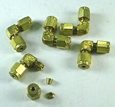 "5 Swagelok Brass Elbow Fittings 1/8"" Tube x 1/8"" Tube"