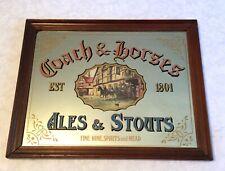 Vintage Coach & Horses Ales & Stouts Fine Wine Spirits & Mead Bar Mirror England