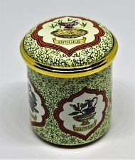 """New listing Halcyon Days Enamel Box - Cooking Spices - """"Variety Is The Spice Of Life"""""""