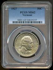 1927 Vermont Commemorative Half Dollar PCGS MS62