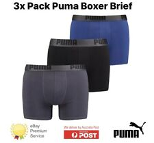 NEW 3 Pack Men's PUMA Performance Boxer Briefs -  100% PUMA Manufactured