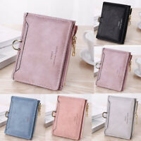 Small Women Zipper RFID Wallet Fashion Lady Solid Coin Pocket Purse Clutch Bag