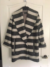 NEW AKIN GingerandSmart Captive Coat fits Siz 12  $549 Gry/Ivory relaxed Fit FAB
