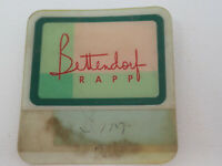 Vintage Bettendorf Rapp Employee Name Tag