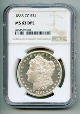 1885 CC Morgan Silver Dollar NGC MS 63 DPL (DMPL)