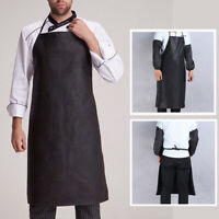Leather Aprons Waterproof Anti-Oil Restaurant Chef Kitchen Aprons Quick Drying'