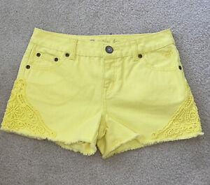 Justice Premiem Jean Shorts Yellow Size 14R