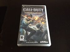 CALL OF DUTY LES CHEMINS DE LA VICTOIRE // EDITION FR PAL // SONY PSP // COMPLET